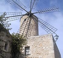 Mallorca Spanien Vejr mølle
